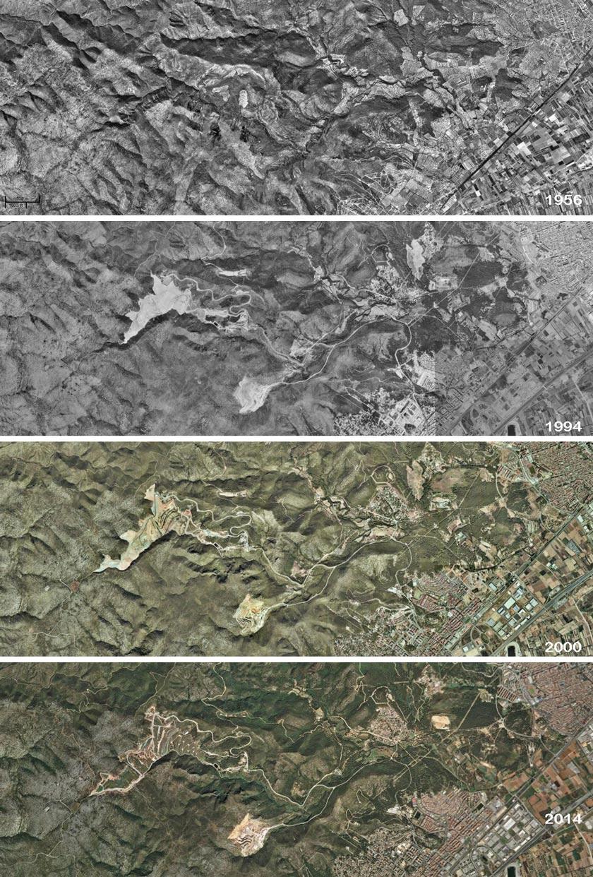 Figuras 06, 07, 08, 09: evolución histórica del emplazamiento