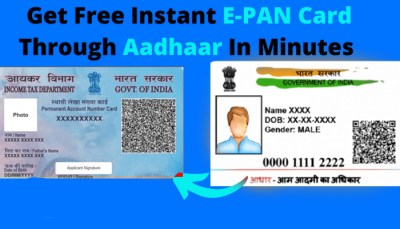 Get Instant PAN Card for Free Online through Aadhaar