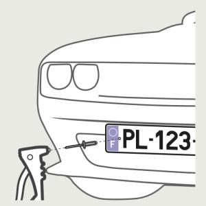 Fixer vos plaques d'immatriculation à l'emplacement prévu à cet effet.