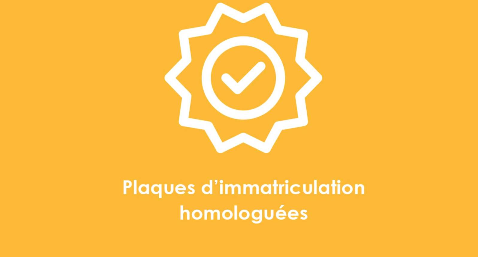 Plaque immatriculation homologuée