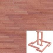 Plaqueta Manual Roja Arenosa 22x3x1cm Refrentada 1