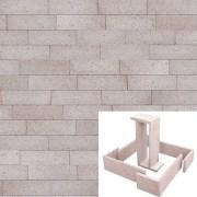 Plaqueta Semimanual Blanca Arenosa 22×6,5x1cm Refrentada 1