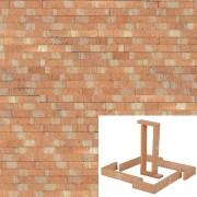 Plaqueta Semimanual Cuero Raspada 22x3x1,5cm Refrentada 1
