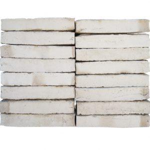 Plaqueta Manual Blanca Marfil Destonada 24x4x1,5cm