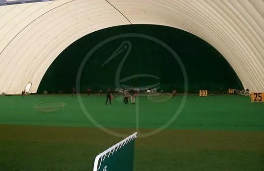 Copertura doppia membrana campo pratica golf mt 100x50