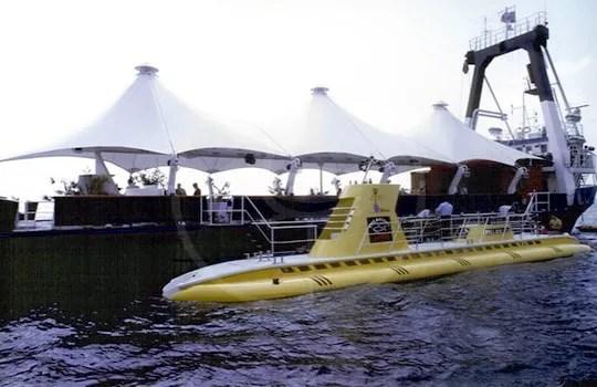 Copertura per nave appoggio sommergibile