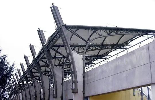 Покрытие трибуны размером 11 х 50 м