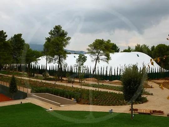 Zeltkonstruktion für 2 Tennisplätze