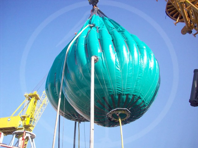 pressure test of 25 ton recovery balloon