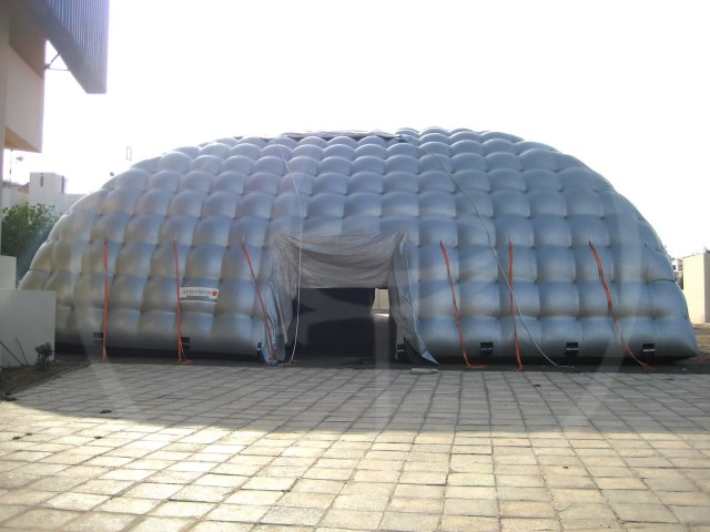 Self-supporting inflatable tent 18x36