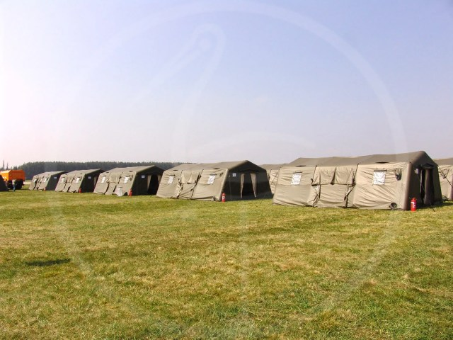 inflatable tents for military base