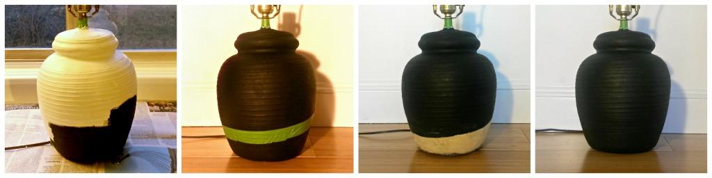 hrift Store Lamp Makeover Steps - Gold Leaf with Wood Filler | Plaster & Disaster