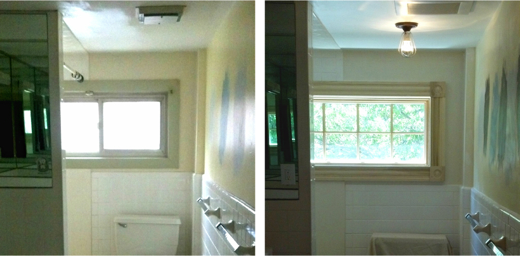 Renovation for open space and light - Bathroom window upgrade progress - Plaster & Disaster