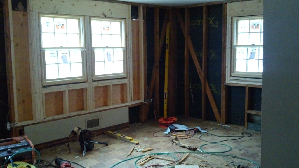 Renovation for open space and light - front windows - Plaster & Disaster