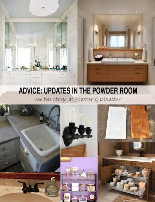 Advice for the powder room -- Plaster & Disaster