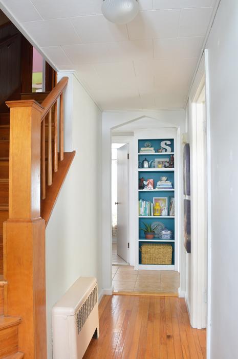 Colorful built-in bookshelf -- Plaster & Disaster