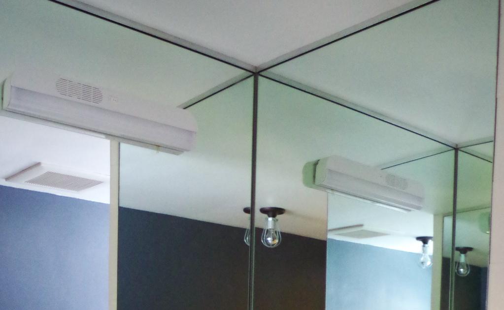 Advice for a sad bathroom vanity - light before - Plaster & Disaster