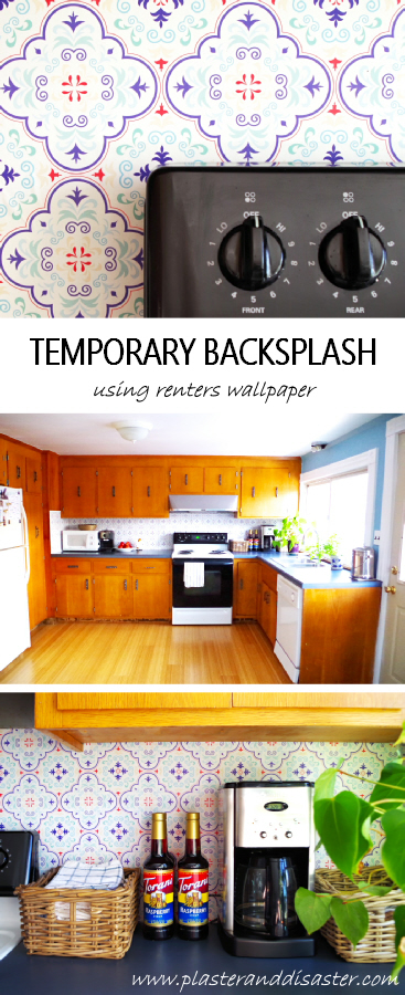 Temporary Backsplash Using Renters Collection 10 Wallpapers
