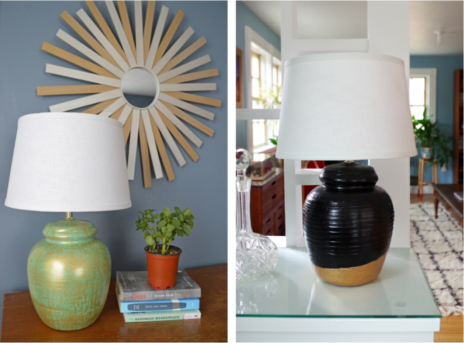 Thirft Store Lamp Makeover - After Images 2 - Plaster & Disaster