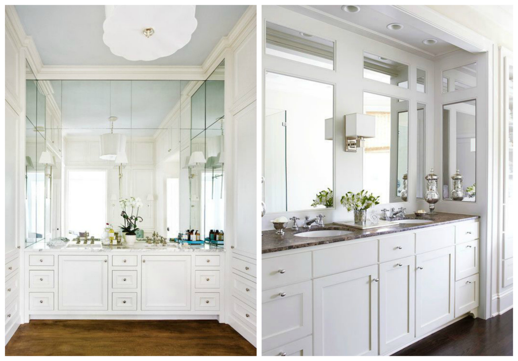 Wraparound bathroom vanities -- Plaster & Disaster