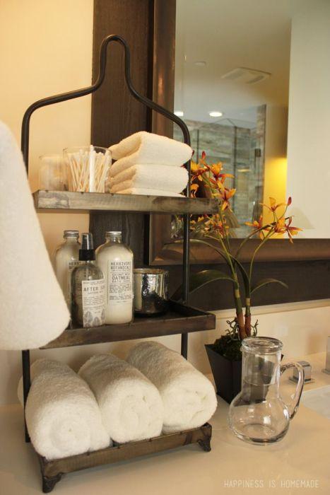 Bathroom countertop storage -- Plaster & Disaster