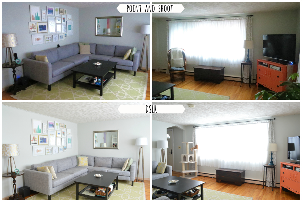 Same room, DSLR versus regular digital camera -- Plaster & Disaster
