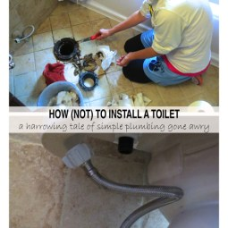 How (not) to install a toilet -- Plaster & Disaster