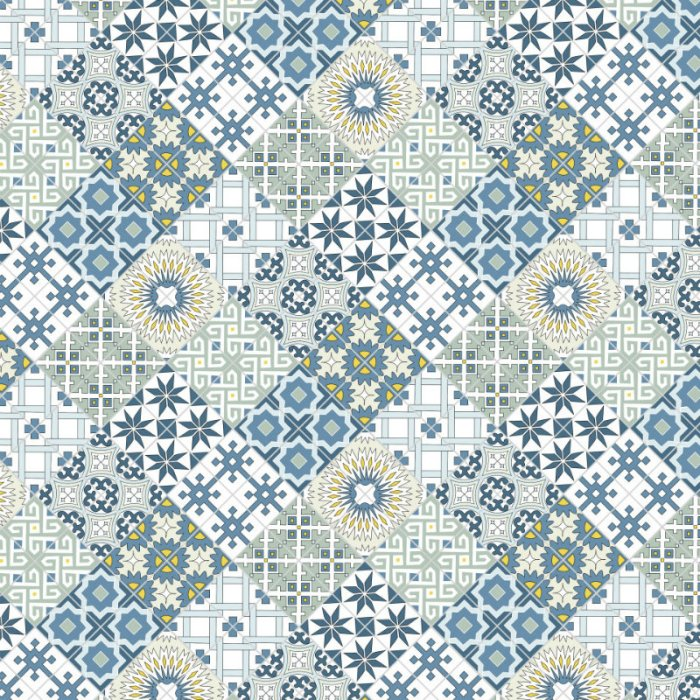 Designing my own shower curtain - my final tile pattern - Plaster & Disaster