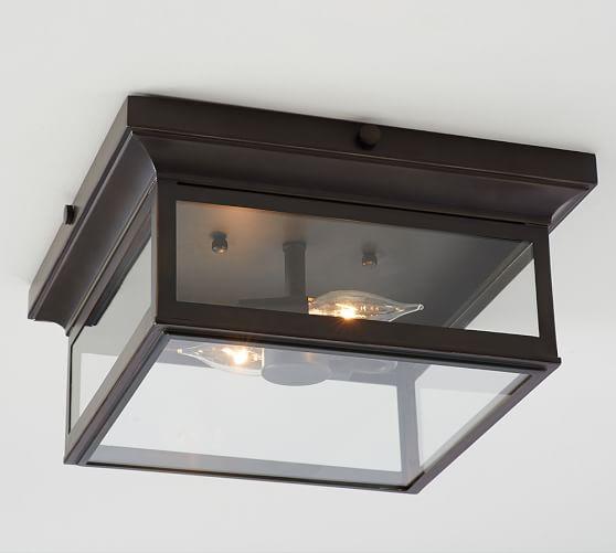 Flushmount light fixture -- Plaster & Disaster