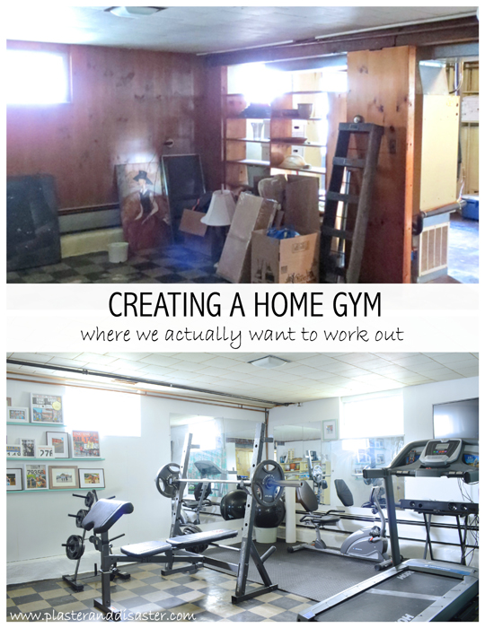 Creating a home gym -- Plaster & Disaster