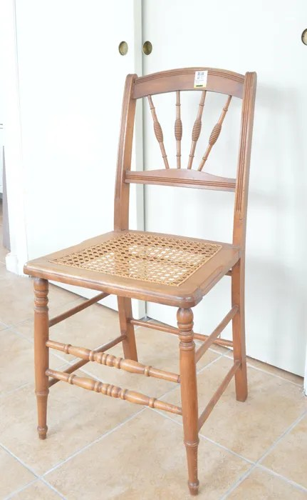 Bold two-toned cane chair makeover -- Plaster & Disaster