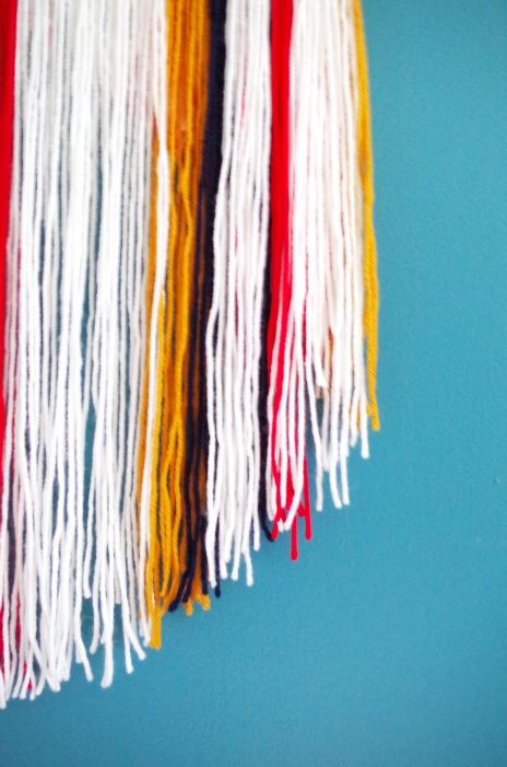Circular Yarn Wall Hanging DIY - Plaster & Disaster