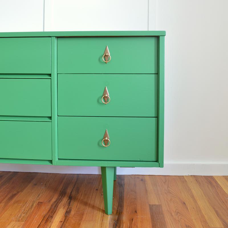 Emerald green dresser -- Plaster & Disaster