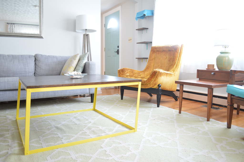 DIY metal modern coffee table -- Plaster & Disaster