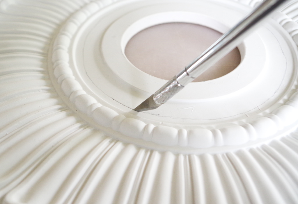 how to install modern ceiling medallions | Installing a Ceiling Medallion 2 - Plaster & Disaster ...