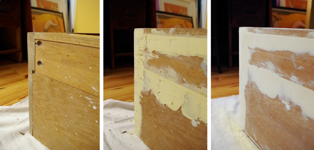 Cabinet Makeover u2013 Fixing a rough surface with wood filler u2013 Plaster u0026 Disaster & Cabinet Makeover - Fixing a rough surface with wood filler - Plaster ...