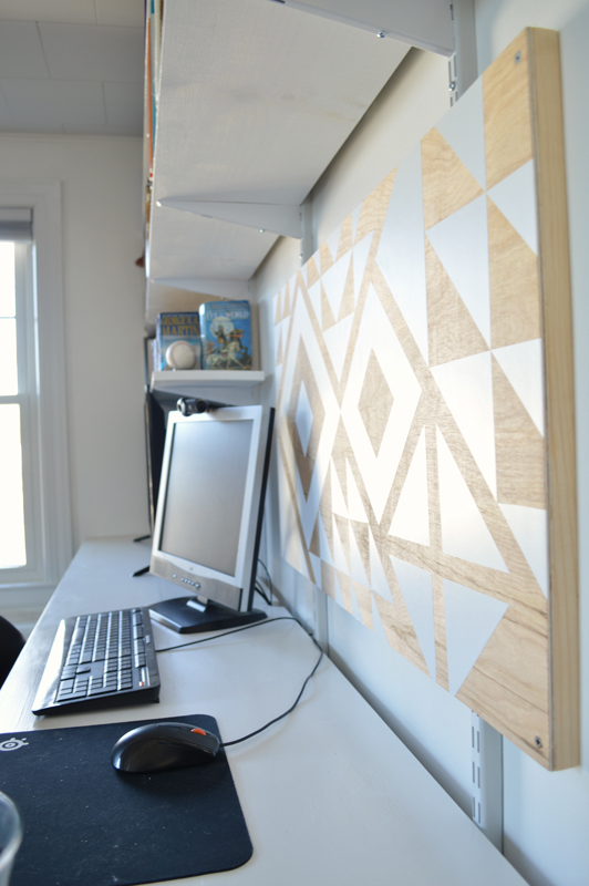 Geometric artwork with vinyl adhesive -- Plaster & Disaster