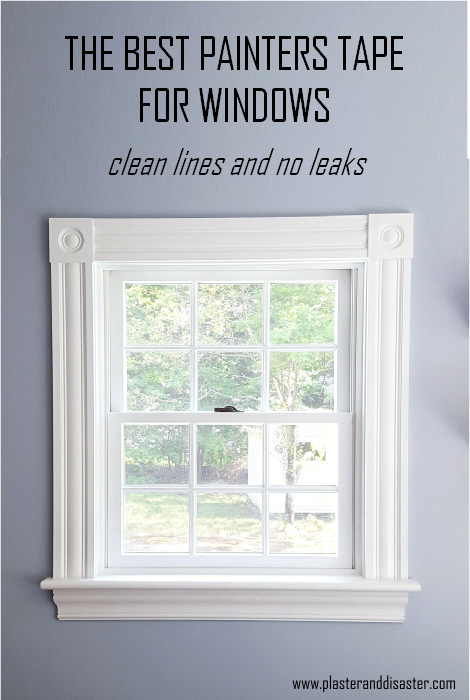 The best painters tape for windows - I tried several and this kind gave me clean lines and no leaks - Plaster & Disaster