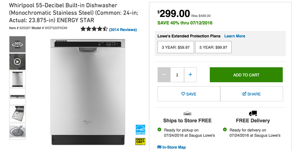 New dishwasher -- Plaster & Disaster