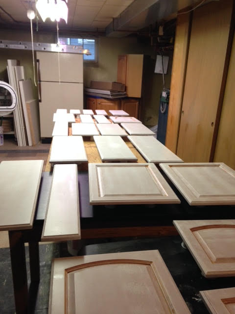 Cabinet painting -- Plaster & Disaster