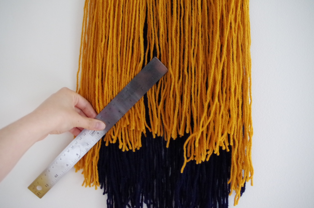 Two-Tone Yarn Wall Hanging - Plaster & Disaster