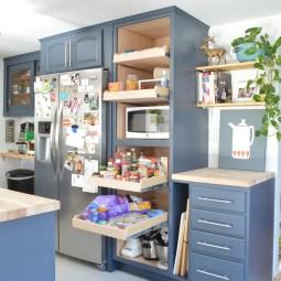Sliding pantry shelves -- Plaster & Disaster