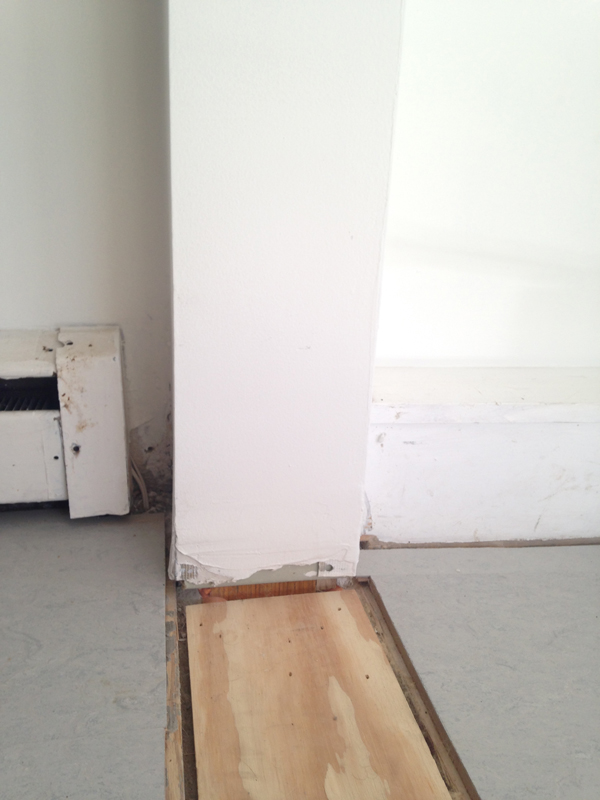 Installing floor trim -- Plaster & Disaster