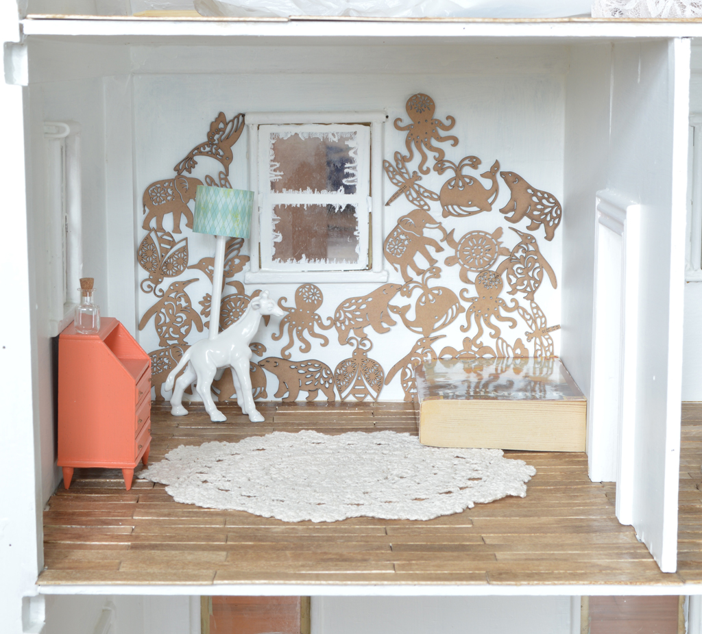Dollhouse makeover -- Plaster & Disaster