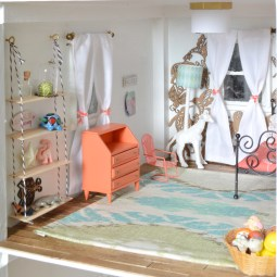 Little girl dollhouse room -- Plaster & Disaster