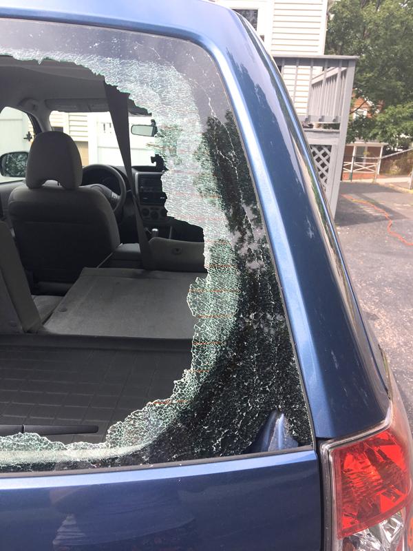 Shattered windshield -- Plaster & Disaster