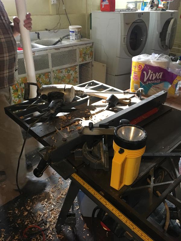 new sink plumbing -- Plaster & Disaster
