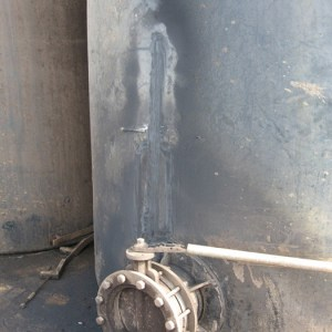 Dairy floodwash tank repaired