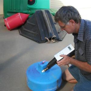 Repairing a boomspray foam marker tank