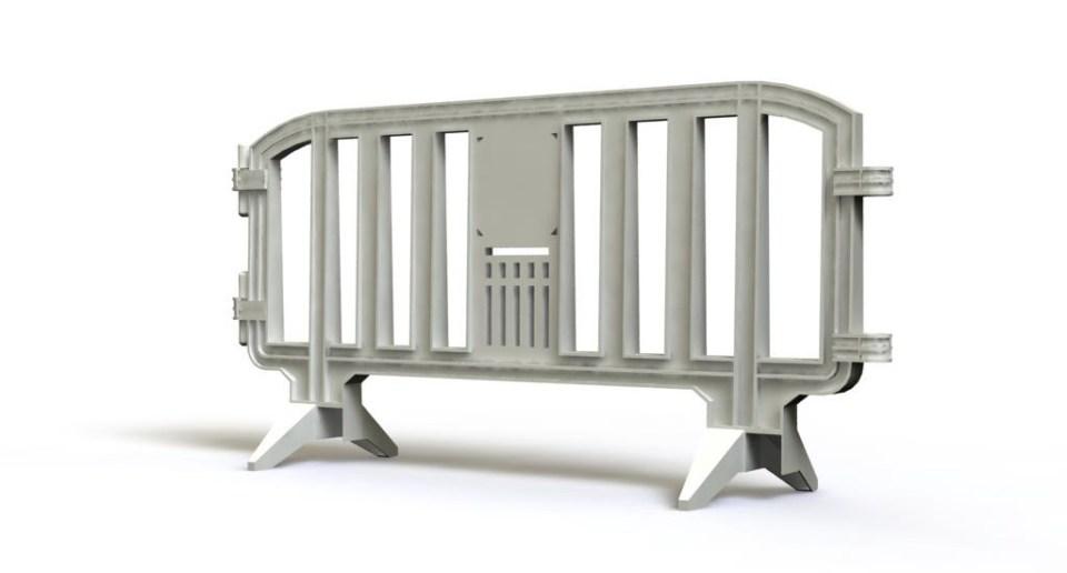 White plastic barrier